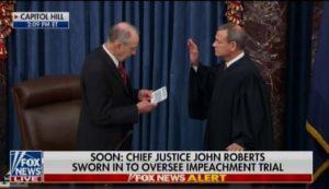 Impeachment Trial Begins – Justice Roberts Sworn In