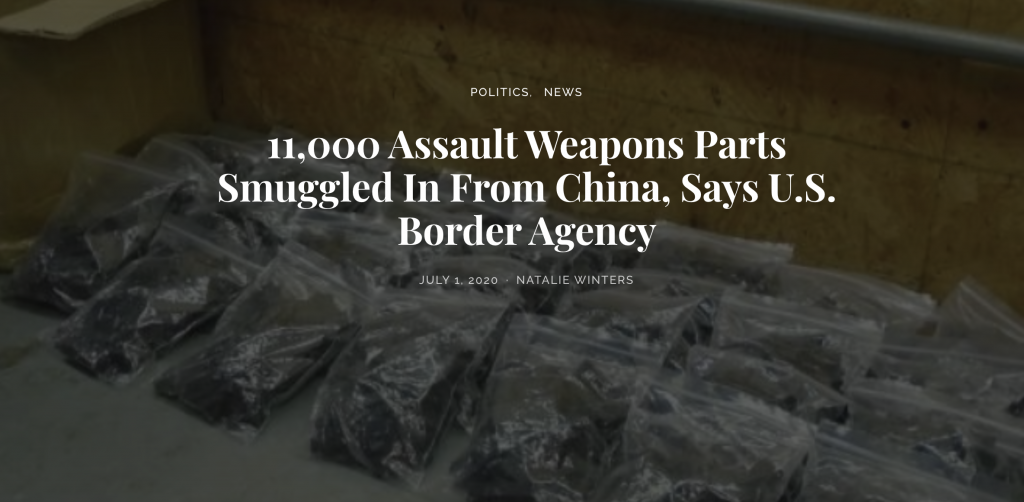 EP 2000-6PM HEADS-UP! CHINA CAUGHT SMUGGLING PARTS FOR 11,000 GUNS TO AMERICA